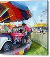 Car Ride At The Fair Canvas Print