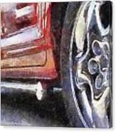 Car Rims 02 Photo Art 02 Canvas Print