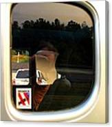 Car Window Reflection Canvas Print