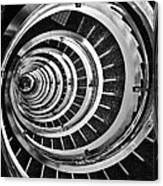 Time Tunnel Spiral Staircase In Sao Paulo Brazil Canvas Print
