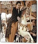 Caramel Carousel Canvas Print