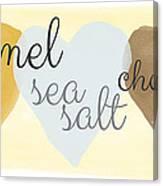 Caramel Sea Salt And Chocolate Canvas Print