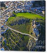 Carcabuey Castle From The Air Canvas Print