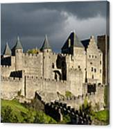Carcassonne Stormy Skies Canvas Print