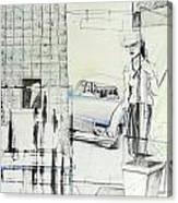 Carcrash Canvas Print