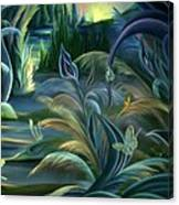Card Design For Insects Of Enchanted Stream Canvas Print
