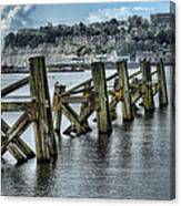 Cardiff Bay Old Jetty Supports Canvas Print