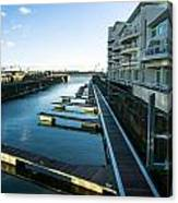 Cardiff Bay Pontoons Canvas Print