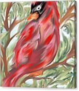 Cardinal At Rest Canvas Print