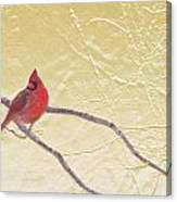 Cardinal In Gold Leaf Canvas Print
