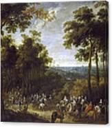 Cardinal-infante On The Hunt Canvas Print