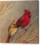 Cardinal Mates Canvas Print