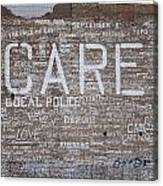 Care In Detroit  Canvas Print