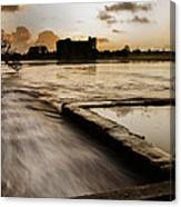 Carew Castle And Lake Canvas Print