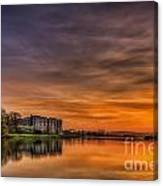 Carew Castle Sunset 1 Canvas Print