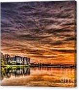 Carew Castle Sunset 2 Canvas Print
