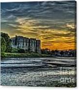 Carew Castle Sunset 3 Canvas Print