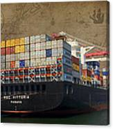 Cargo Vessel Canvas Print