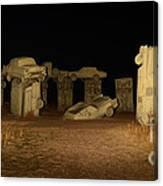 Carhenge At Night Canvas Print