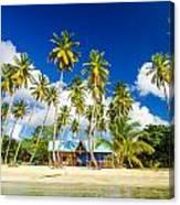 Caribbean Beach Shack Canvas Print