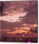 Caribbean Cruise Light Show Canvas Print