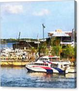 Caribbean - Dock At King's Wharf Bermuda Canvas Print