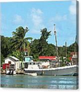 Caribbean - Docked Boats At Antigua Canvas Print