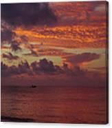 Caribbean Early Sunrise Canvas Print