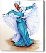 Caribbean Folk Dancer Canvas Print