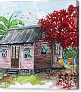 Caribbean House Canvas Print