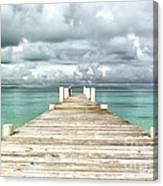 Caribbean Landscape - Isolated Jetty - Bahamas Canvas Print