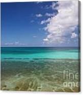 Caribbean Ocean Panorama Canvas Print