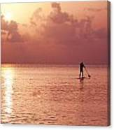 Caribbean Paddleboarder Canvas Print