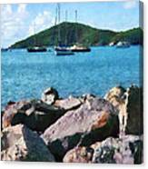 Caribbean - Rocky Shore St. Thomas Canvas Print