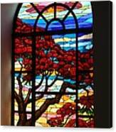 Caribbean Stained Glass  Canvas Print
