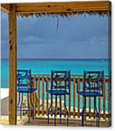 Caribbean View-island Grill Grand Cayman Canvas Print