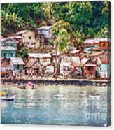 Caribbean Village Canvas Print