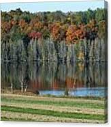 Caribou Lake Reflected Canvas Print