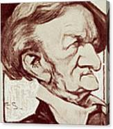 Caricature Of Richard Wagner Canvas Print