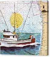 Carina Trawl Fishing Boat Nautical Chart Map Art Canvas Print