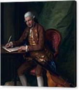 Carl Friedrich Abel, C.1777 Canvas Print