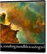 Carl Sagan Quote And Carina Nebula 3 Canvas Print