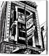 Carlos And Pepe's Montreal Mexican Bar Bw Canvas Print