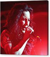 Carly And The Concert Lighting Canvas Print