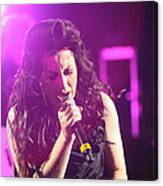Carly On Stage Canvas Print