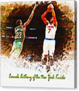 Carmelo Anthony Of The New York Knicks Canvas Print