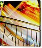 Carnival Ride Fence Canvas Print