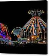 Carnival Rides At Night 04 Canvas Print