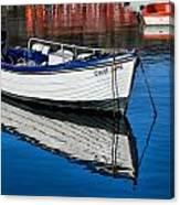Carol June At Lyme Regis Harbour Canvas Print