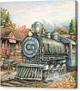 Carolina Morning Train Canvas Print